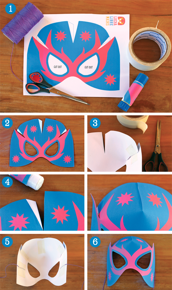 Stepbystep How to make Lucha Libre masks (Free paper
