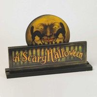 A Scary Halloween Tabletop Sign