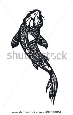 Fish Koi Carp Chinese Symbol Of Good Luck Courage Persistence