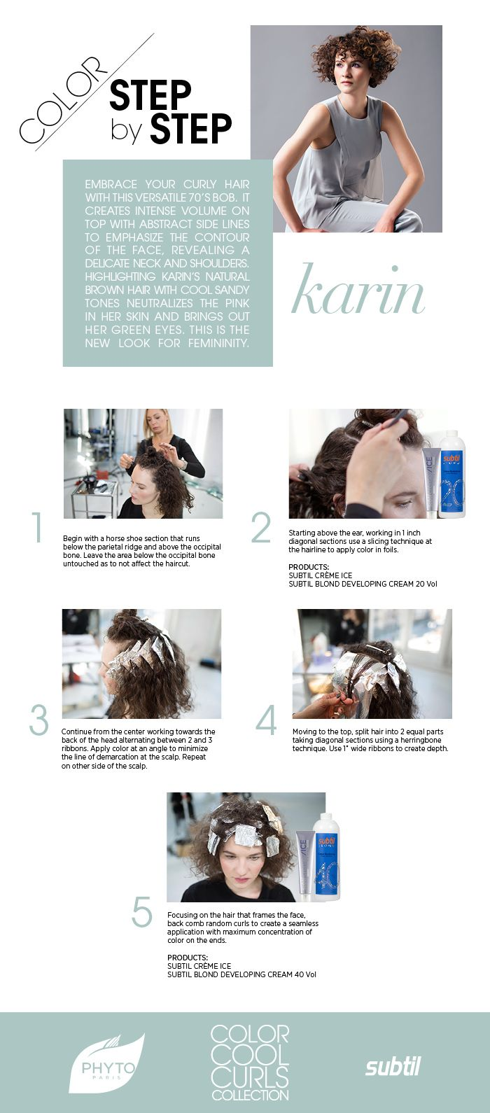 Phyto Subtil Take A Timeless Spin On Curls And Cool Hair Color