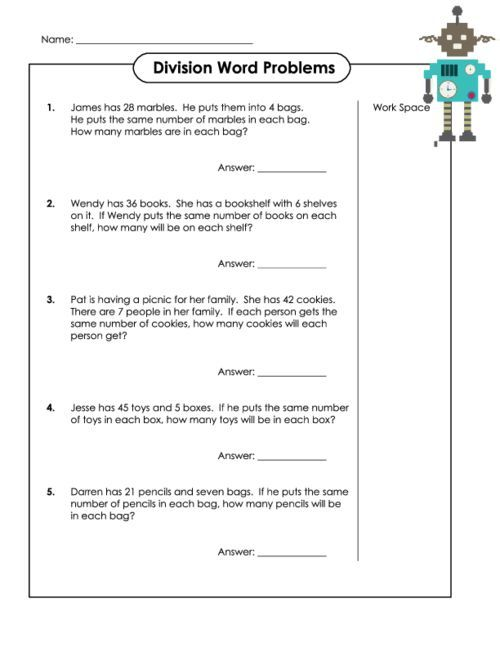 Long Division Word Problems | Word problems, Long division and ...