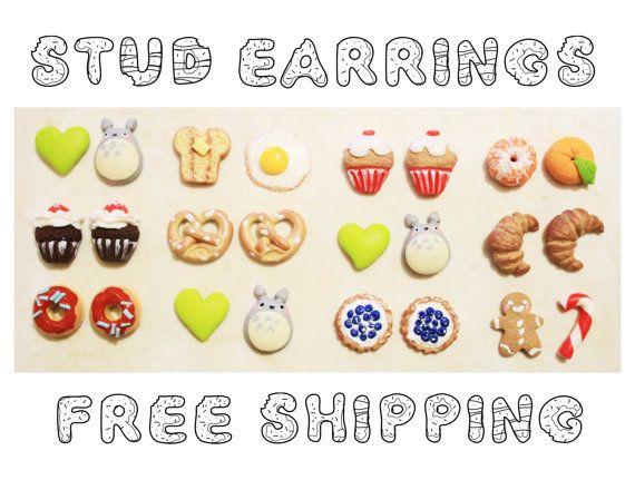 Miniatures Donuts  Totoro  Croissant  di CreazioniKawaiiShop