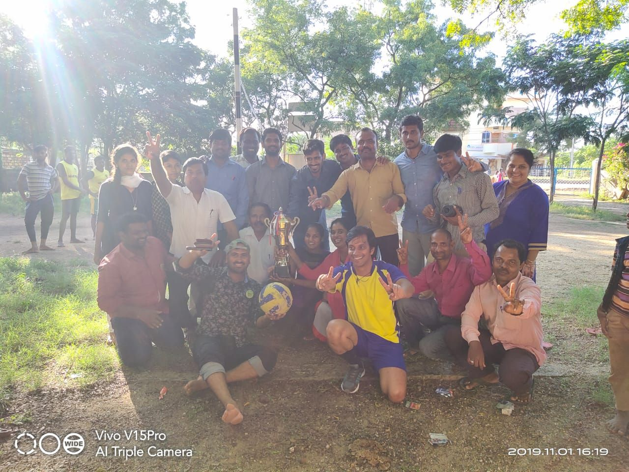 A Few Snaps From The Volley Ball Match Between Different Projects Organized As Part Of The Kannada Rajyotsava Celebrati Project Organization Celebrities Volley