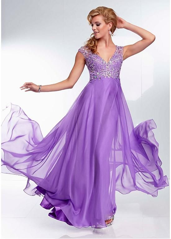 Purple Prom Dresses Green
