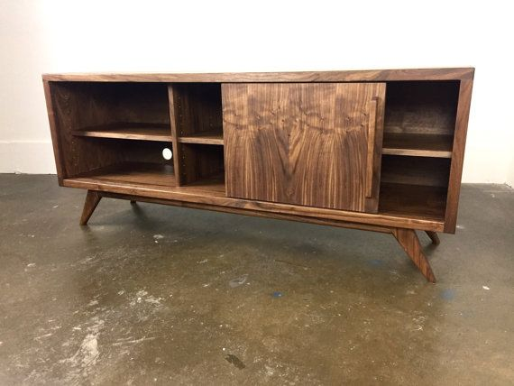 Credenza Mid Century Modern : The keller a mid century modern credenza tv console by monkehaus