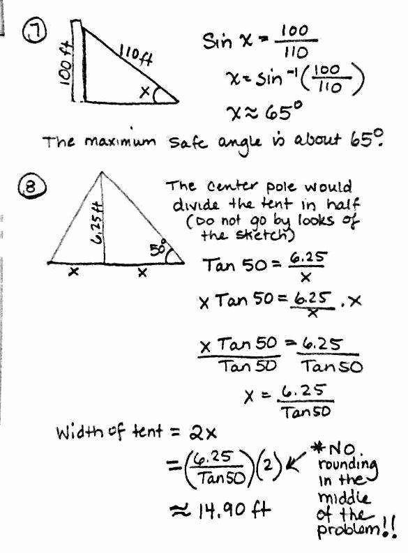 Right Triangle Trigonometry Worksheet 50 Right Triangle ...