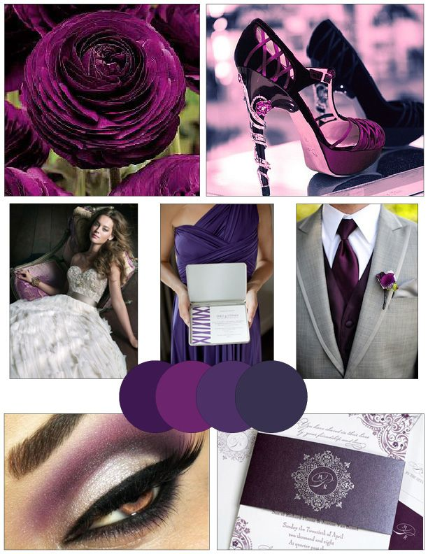 Plum Gray Wedding Ideas WV WEDDINGS