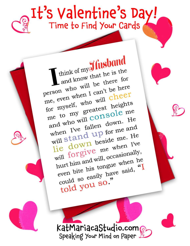 Valentines Day Card for Husband  Valentine  Husband Card  I
