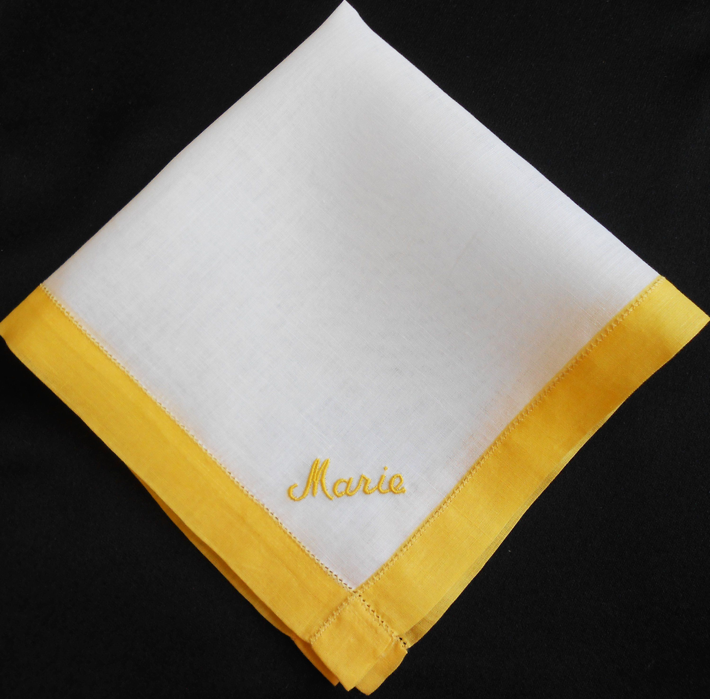 Gift Box 100/% Irish Linen Personalised Handkerchief