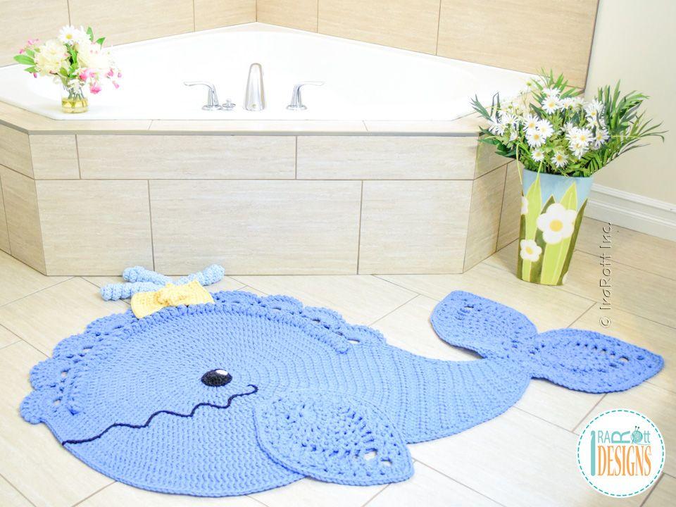 Joyce and Justin Whale Rug PDF Crochet Pattern | Modelos lindas ...