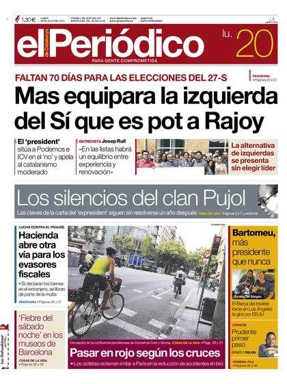 Edición del Lunes 20 julio de 2015 - Edición Digital - El Periódico de Catalunya