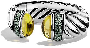 ebda43e3f16 David Yurman Lemon Citrine, Demantoid Garnet & Sterling Silver Wide Cable Cuff  Bracelet on shopstyle.com