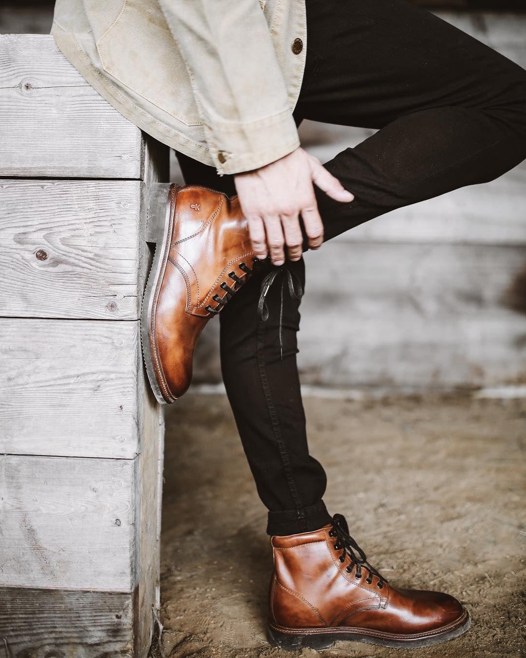 Frye Mens Gordon Lace Up Fashion Boot