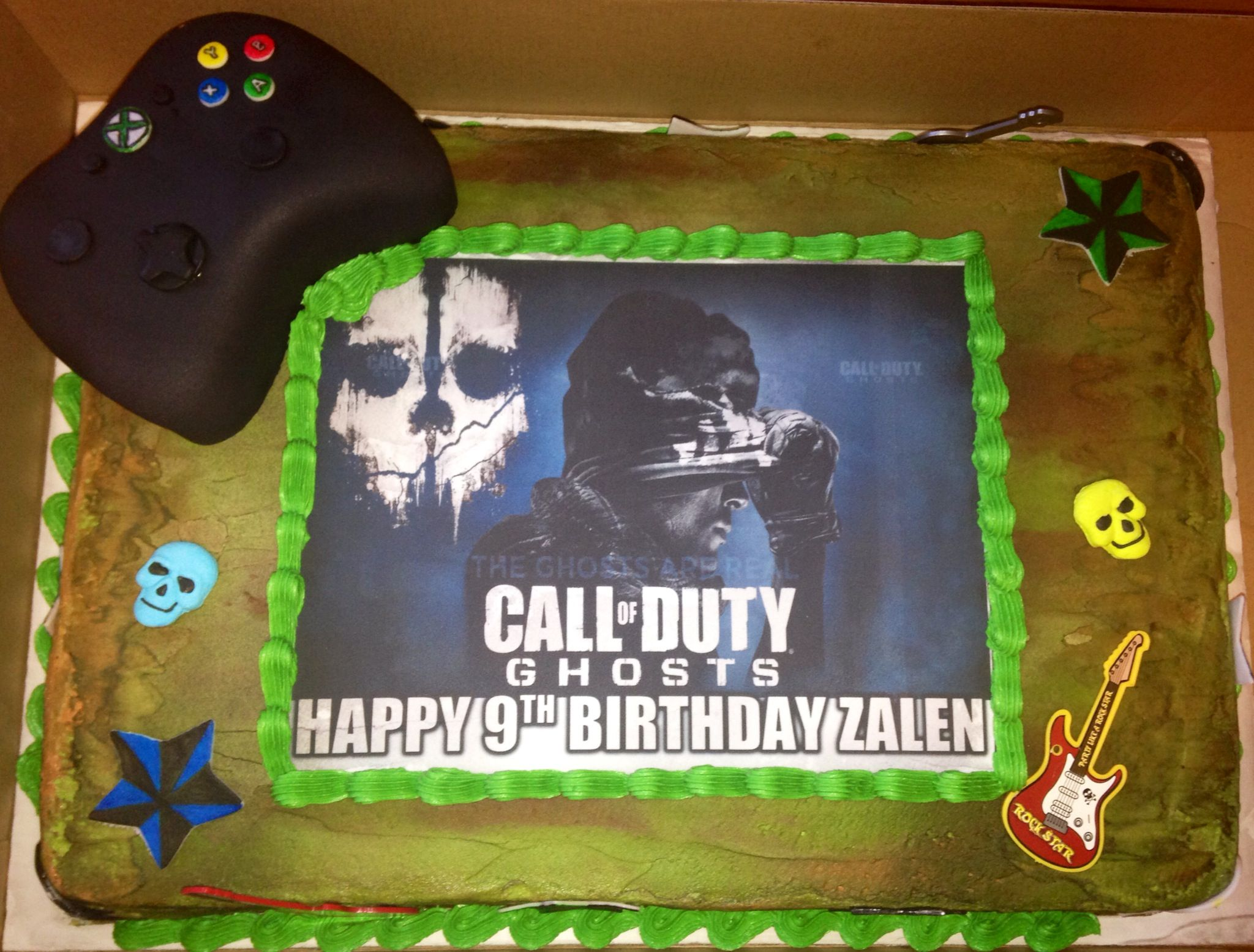 Call of Duty: Ghosts XBOX Birthday Cake | Gavin | Pinterest