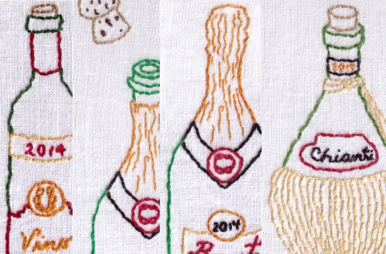 Wine lovers super combo pack hand embroidery pattern by ravenfrog on