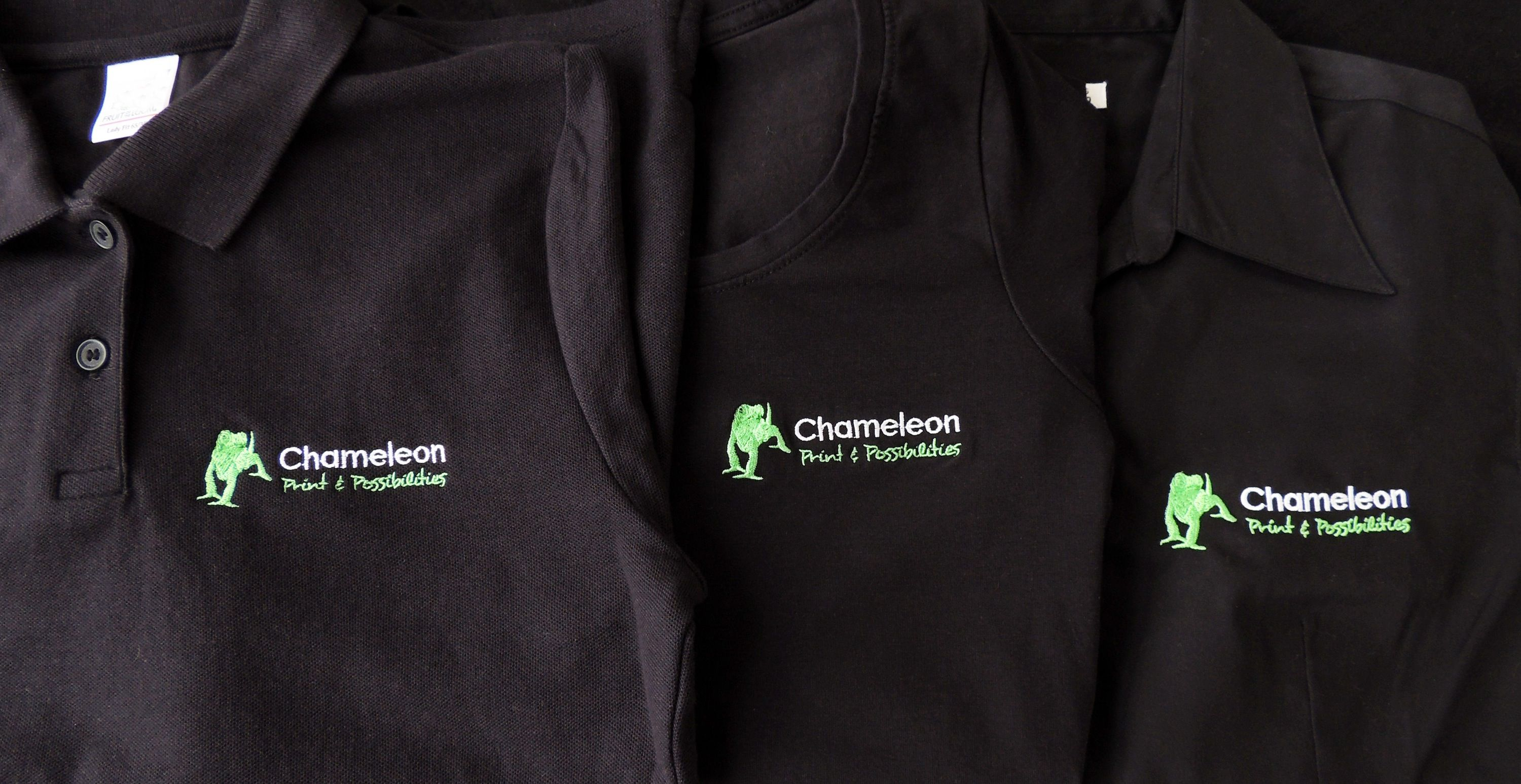 Chameleon Design and Print Embroidered Corporate clothing Polo
