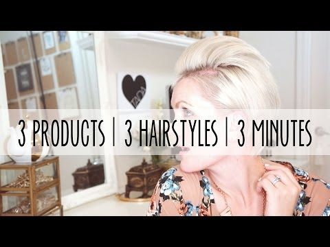 3 products | 3 hairstyles | 3 minutes - YouTube/whippcake