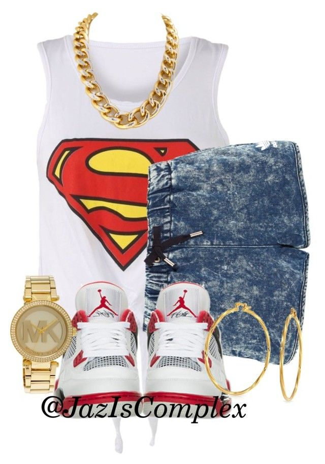 """YouTube"" by jaziscomplex on Polyvore featuring adidas Originals, Retrò, Bling Jewelry and Michael Kors"