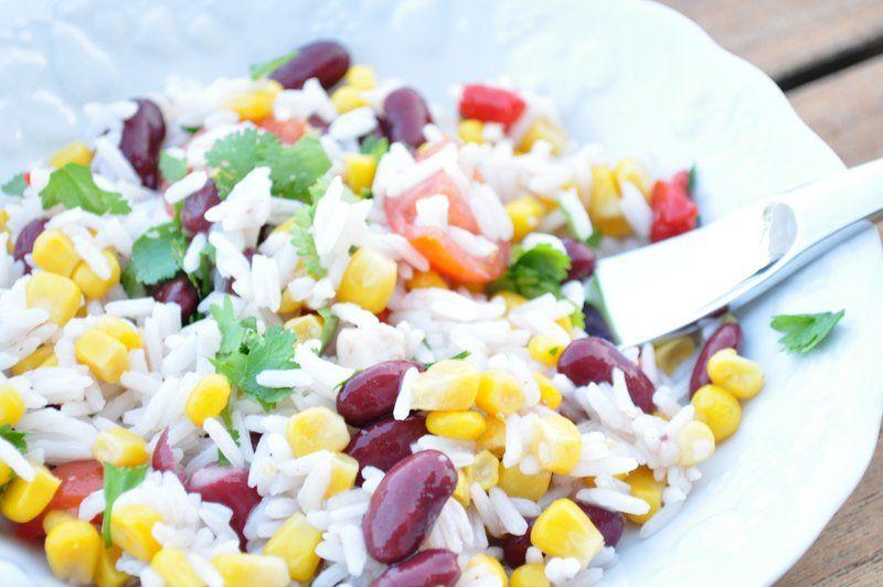 Salade de riz tex-mex