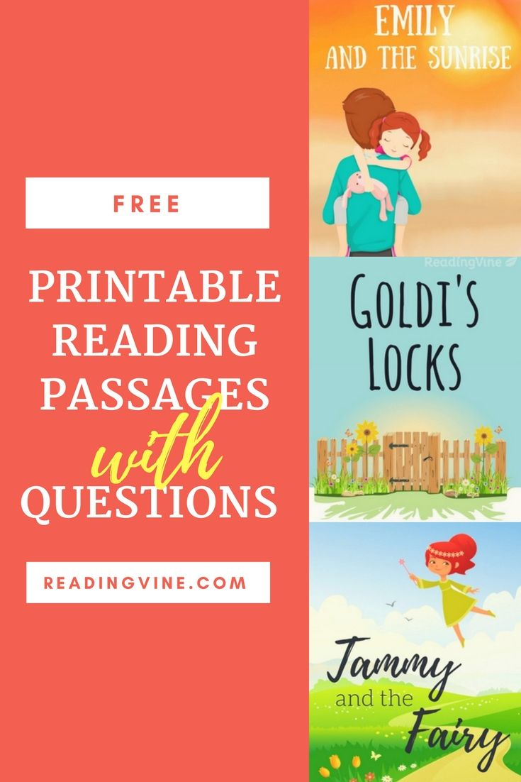 - Free, Printable Reading Passages With Comprehension Questions For