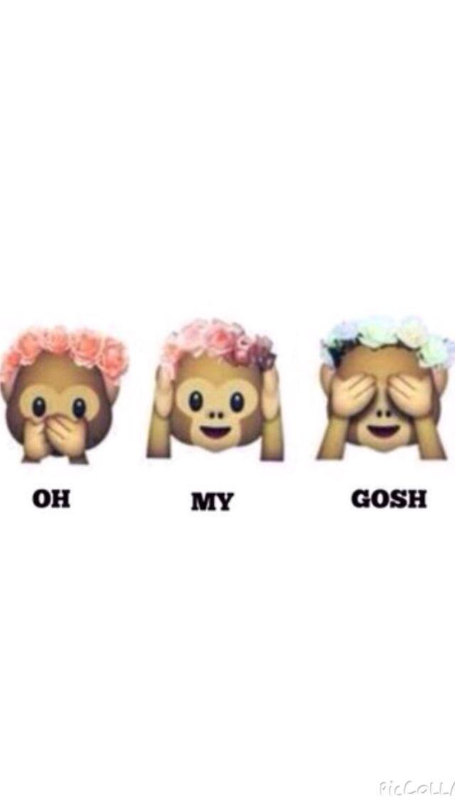 This Is My Current Wallpaper I Love It Emoji Wallpaper Monkey Emoji Emoji Flower