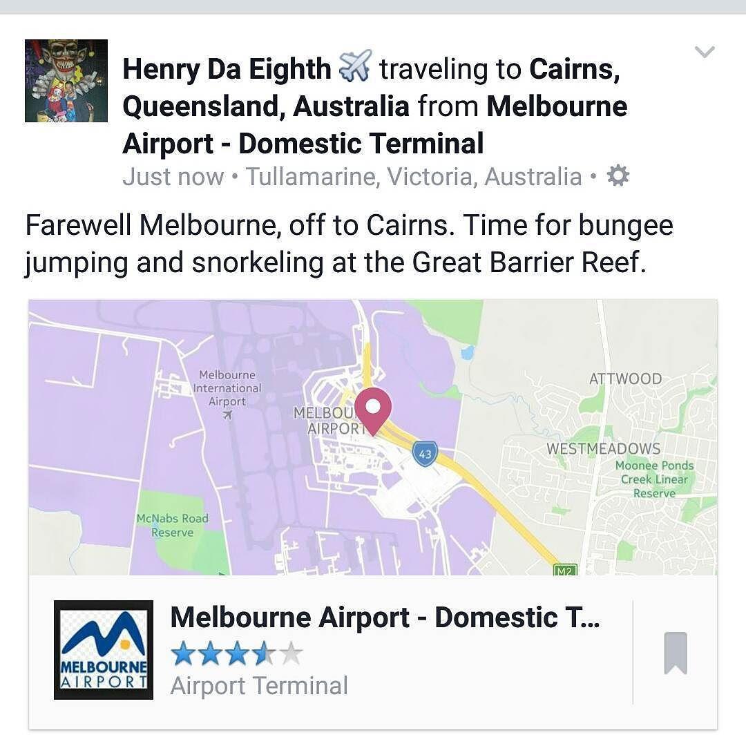 Melbourne it's been real! Later homie. Cairns I'm coming for you! #melbourne #australia #melbourneaustralia #travel #travelislife #wanderlust #ilovetravel #addictedtotravel #solotraveler #generallysolotraveler #solotravel #solotraveller #birthdaytrip #theadventurecontinues #bungee #bungeejumping #bungy #bungyjumping #ajhackett #ajhackettbungy #ajhackettcairns #cairns #australia #firsttimebungeejumping #greatbarrierreef #snorkelingatthegreatbarrierreef #kuranda #kurandavillage #kurandarailway…