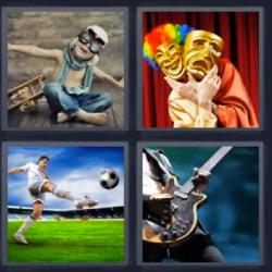 4 fotos 1 palabra mascaras - Pulsa en la foto para ver la respuesta