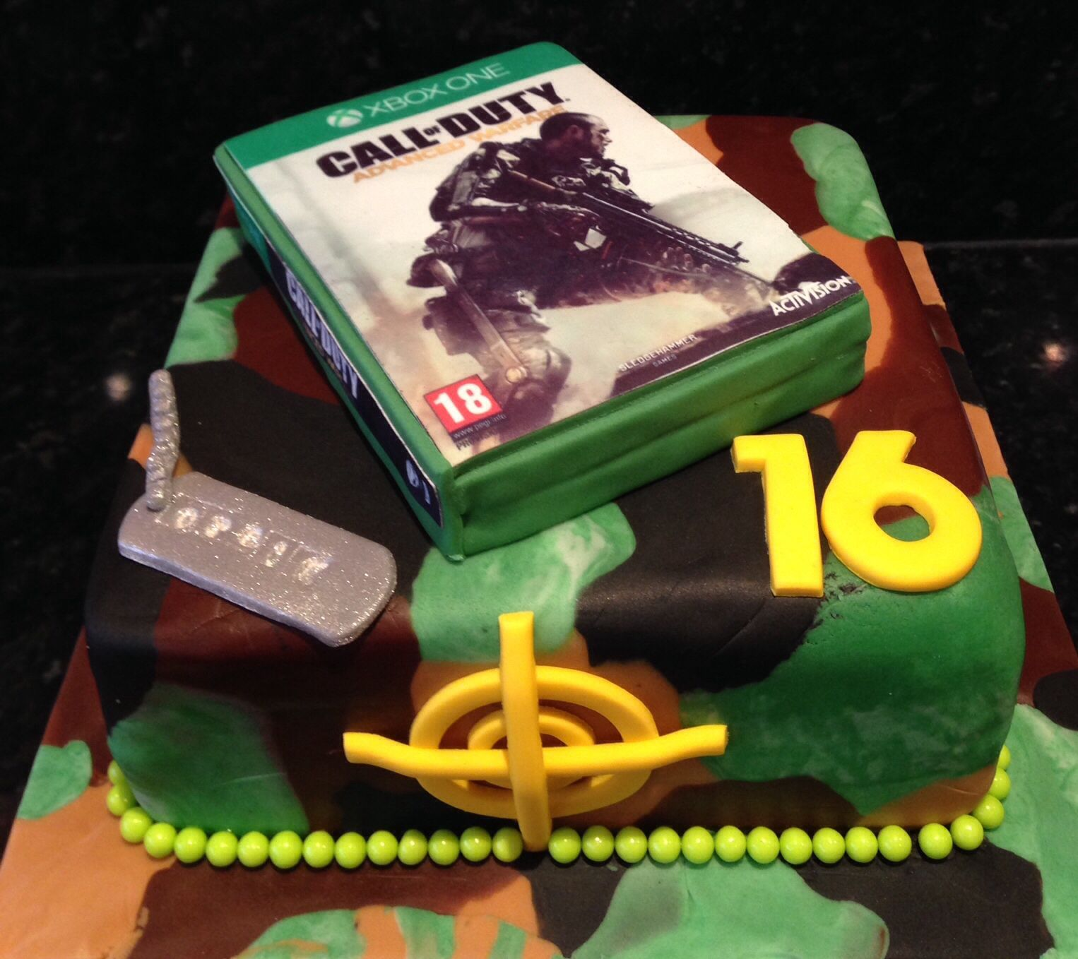 Call Of Duty Advanced Warfare Cake Logans Turning 10 Pinterest
