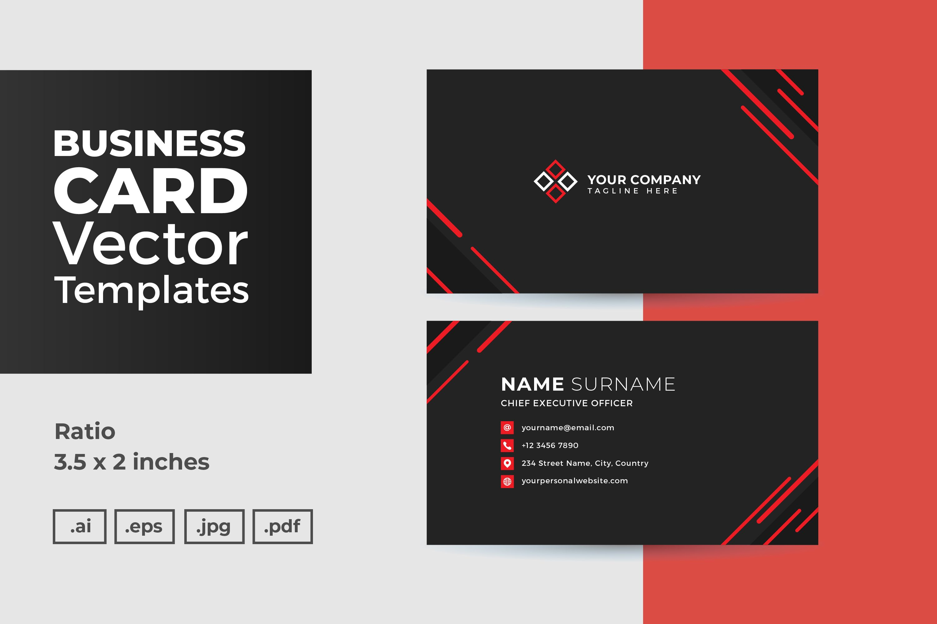 Business Card Vector Template Graphic By Dendysign