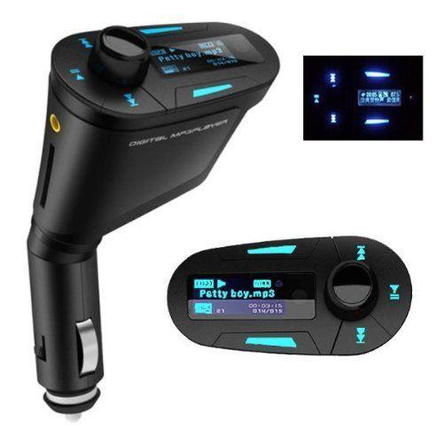 Wireless Bluetooth Car Kit MP3 Player LCD FM Transmitter USB SD MMC Remote AUX