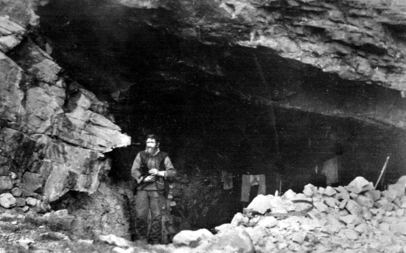 this is one of my hubbys relatives he  made his home in a natural cave in the cliffs on the Isle of Sky