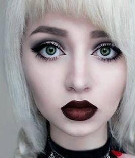 Gothic Makeup Dark Red Lips Eye