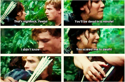 Gotta love when Katniss flips out on Peeta.