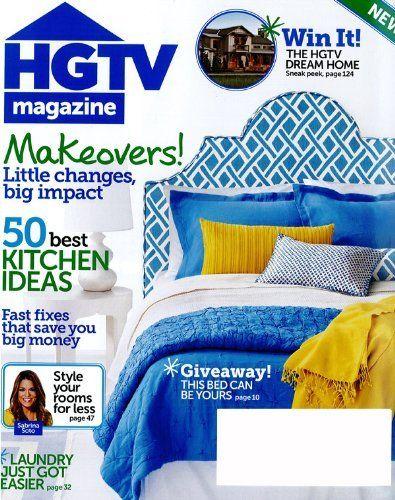 hgtv magazine 1 year magazine subscription hearst. Black Bedroom Furniture Sets. Home Design Ideas