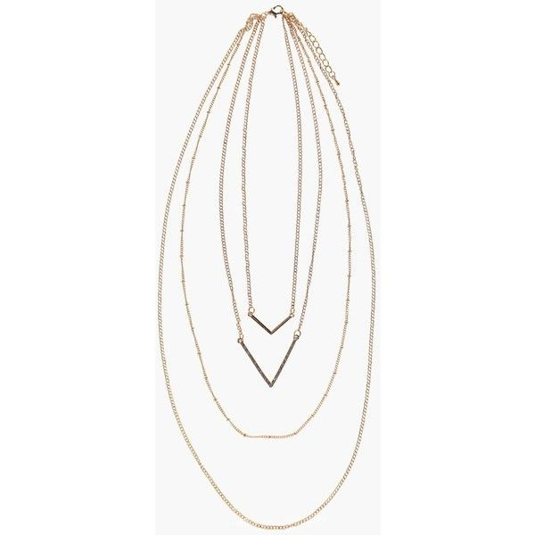 Boohoo Zoe Double Chevron Layered Skinny Necklace | Boohoo ($7) ❤ liked on Polyvore featuring jewelry, necklaces, double layer necklace, chevron jewelry, layered jewelry, chevron necklace and layered necklace