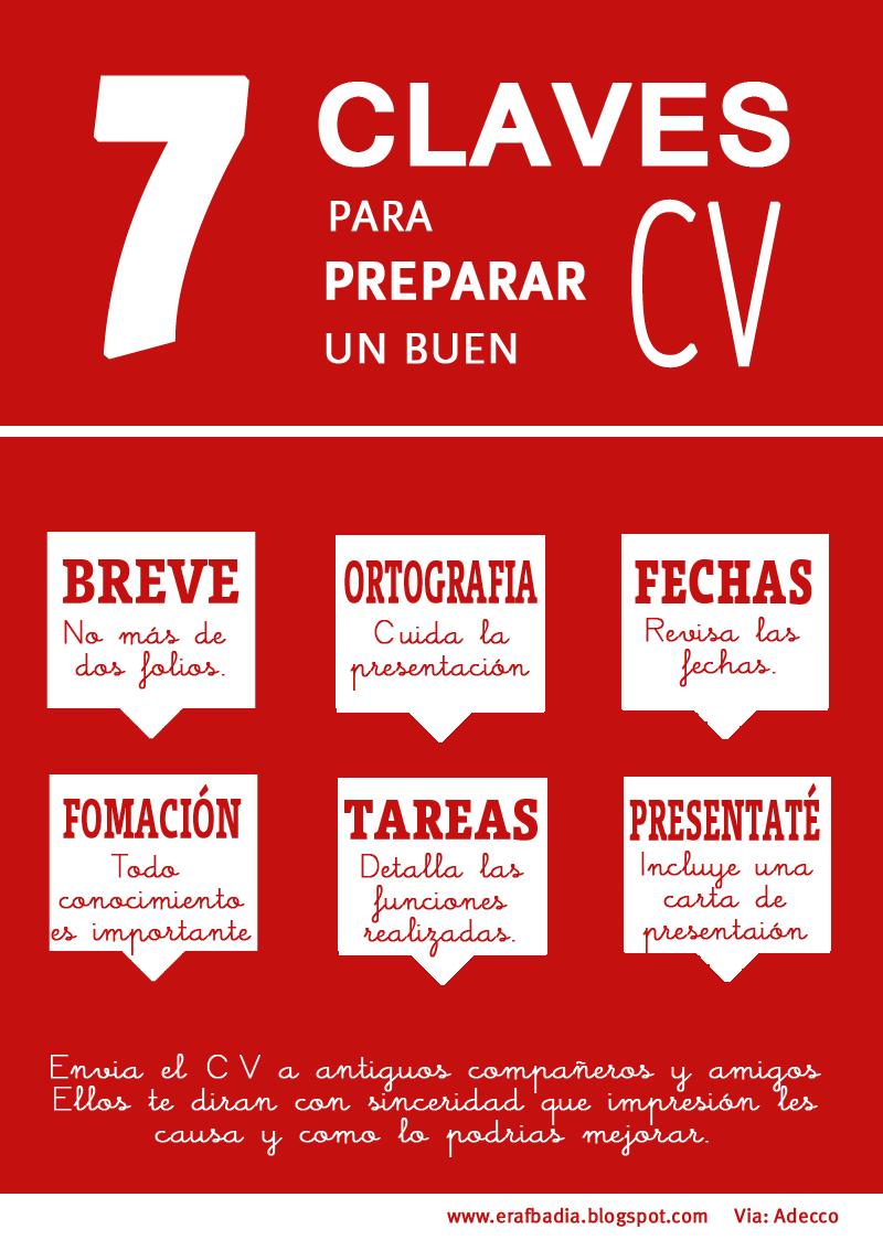 7 claves para preparar un buen #currículum #Infografía   Consejos ...