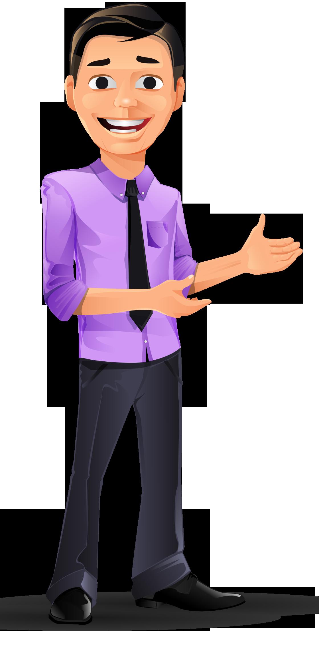 Young Businessman Vector Character Mascotes Desenho A Lapis Anime