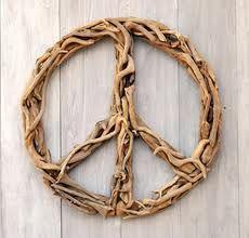 driftwood peace sign... wavy wood