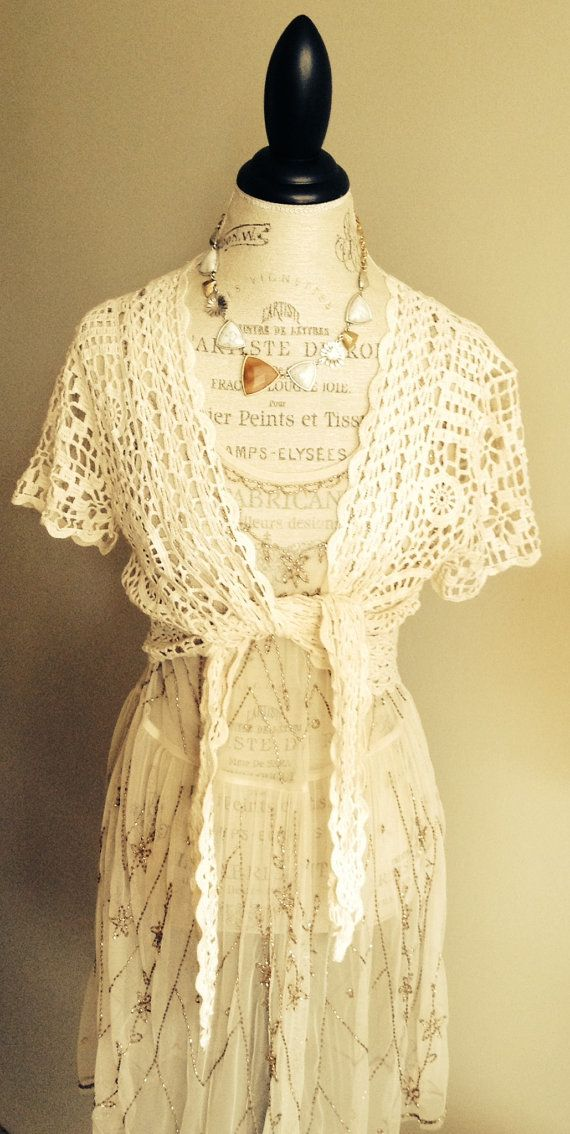 Bohemian Crochet Tie crop top romantic gypsy hippie by BohoAngels, $40.00