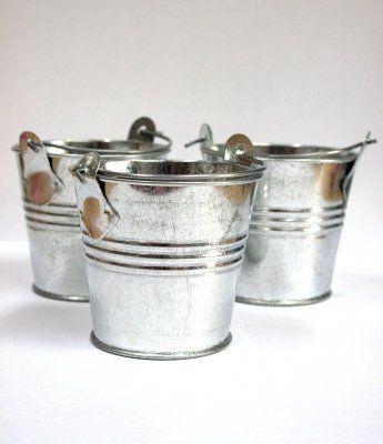 Small Metal Buckets Party Shabby Wedding Favours Crafts C Https Www Amazon Co Uk Dp B01n085iyw Ref Cm Sw R P Favor Buckets Metal Bucket Galvanized Buckets