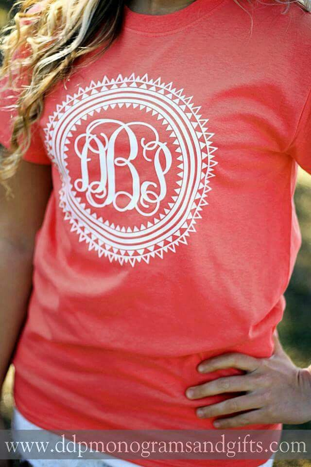 Monogrammed Shirt Creativity Pinterest Monograms Cricut And Silhouettes
