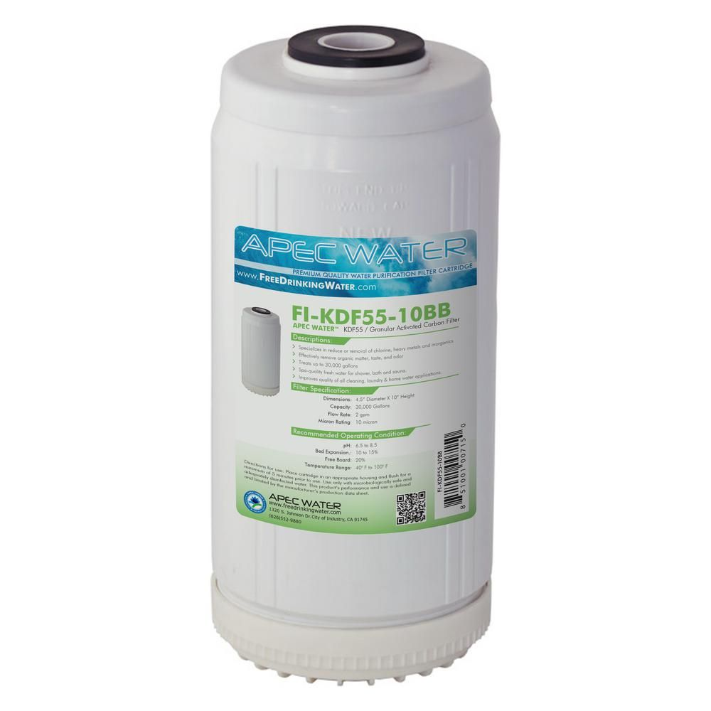 10 in. Whole House Replacement Water Filter Chlorine, Heavy Metal ...