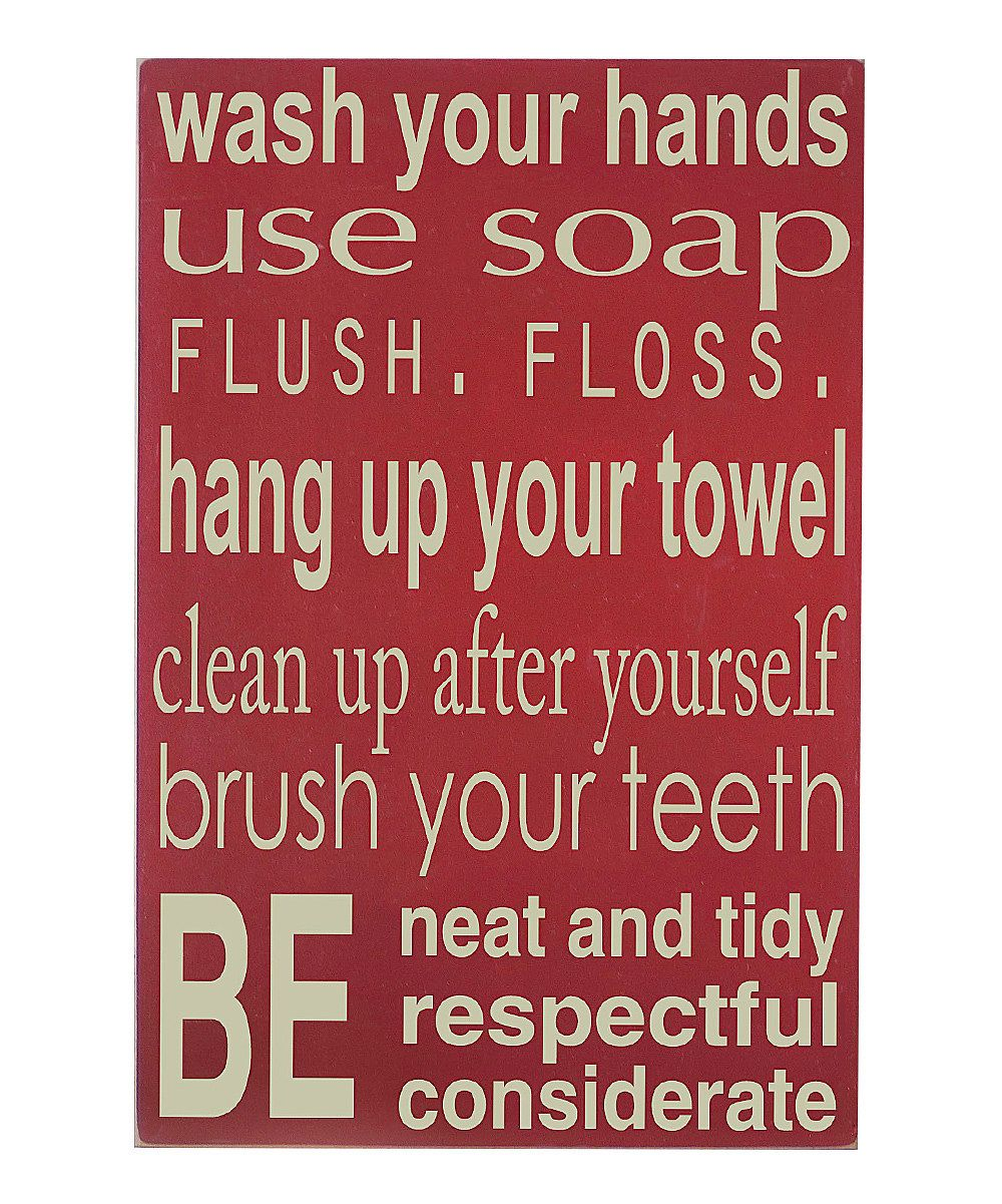 Bathroom Rules Wall Art vinyl crafts barn | crap i need to buy right now so i don't die