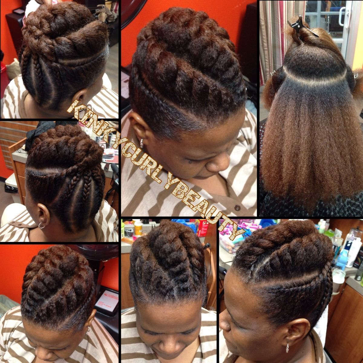 Back to School Hairstyle for Relaxed Hair - YouTube