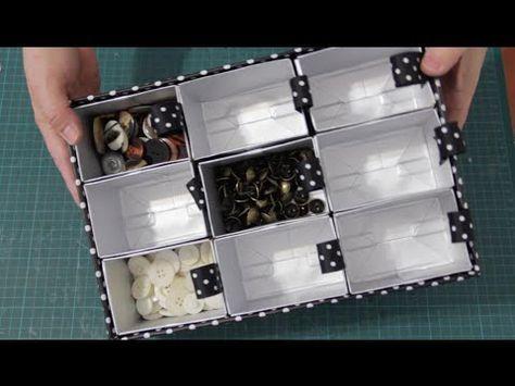 b1787d1a769b0 Divisória para gaveta feita com caixa de sapato e caixa de papelão.  Reciclando caixas e