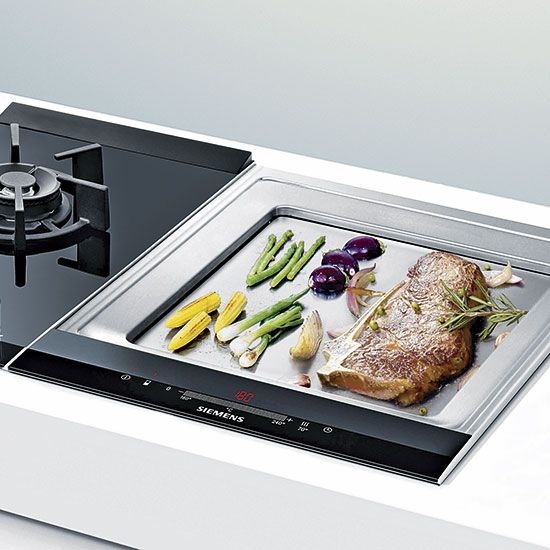 The collection of modular hobs includes gas, barbecue, teppanyaki