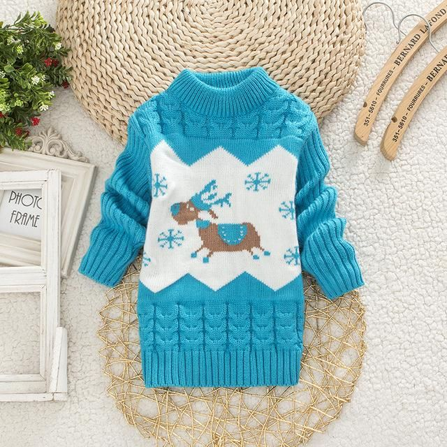 2f7aa1e90 Hot Sweaters for Baby Boys Girls Clothing Children Warm Clothes Kids ...