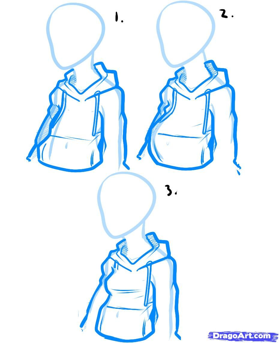 How To Draw A Hoodie Drawing Tips Drawing Tutorial Anime Drawings