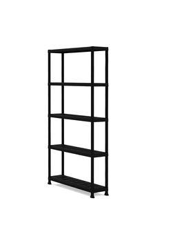 kunststof opbergrek handson 187x80x40cm zwart wandrekken opbergsystemen meubelen gamma