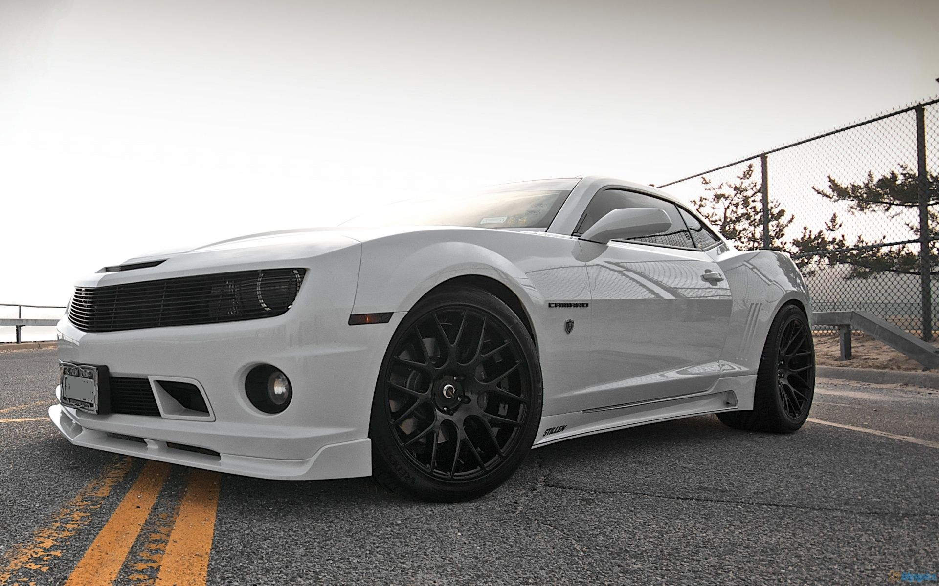 White On Black Camaro SS
